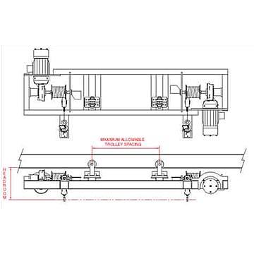 Low Headroom Railroad Car Maintenance Hoist