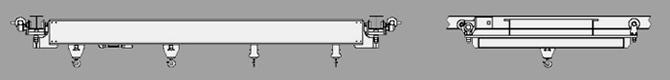 Dual Rail Underhung 4-Point Pick Hoist