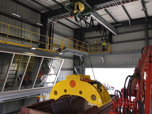 Rail Car Shaker Hoists