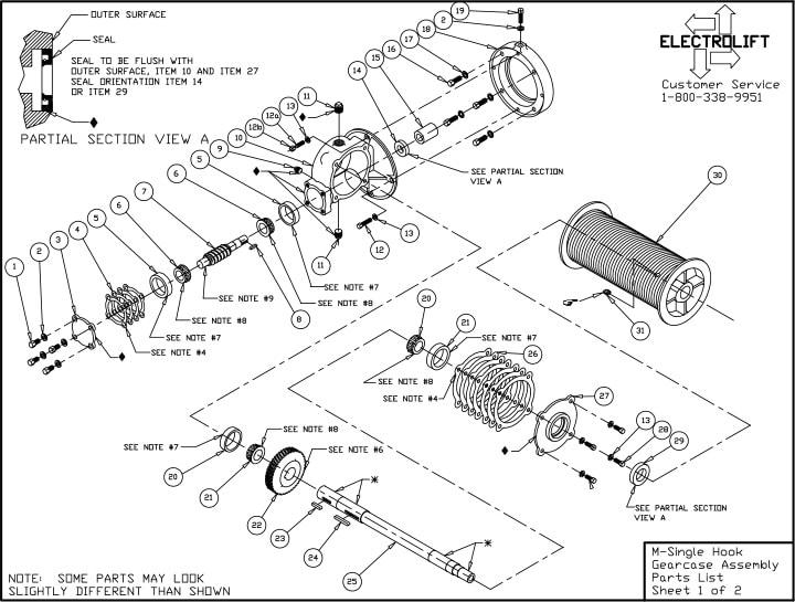 Standard Parts List