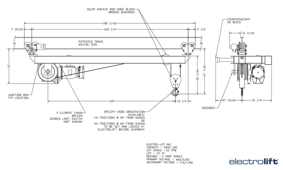 Furnace Charging Hoist CAD